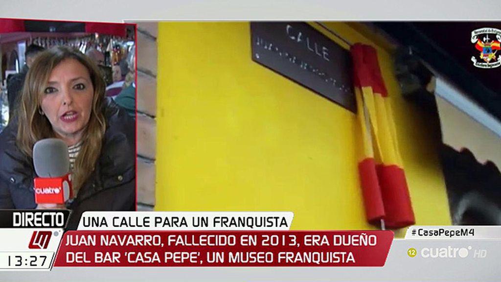 Ponen el nombre del dueño del bar franquista Casa Pepe a una calle