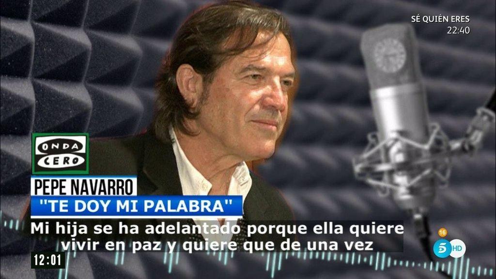 """Pepe Navarro: """"Cometí el error de no hacer las pruebas y asumí el castigo"""""""