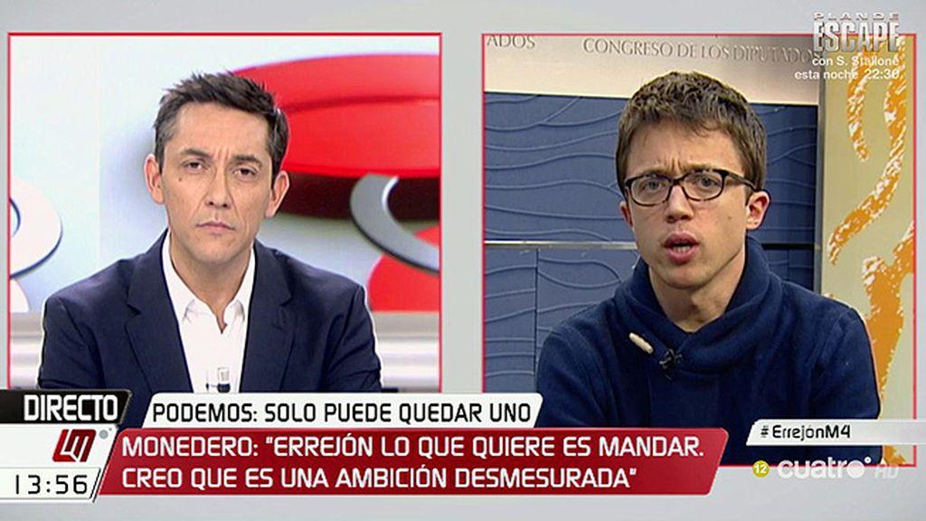 Errejón acepta debatir en Cuatro con Iglesias