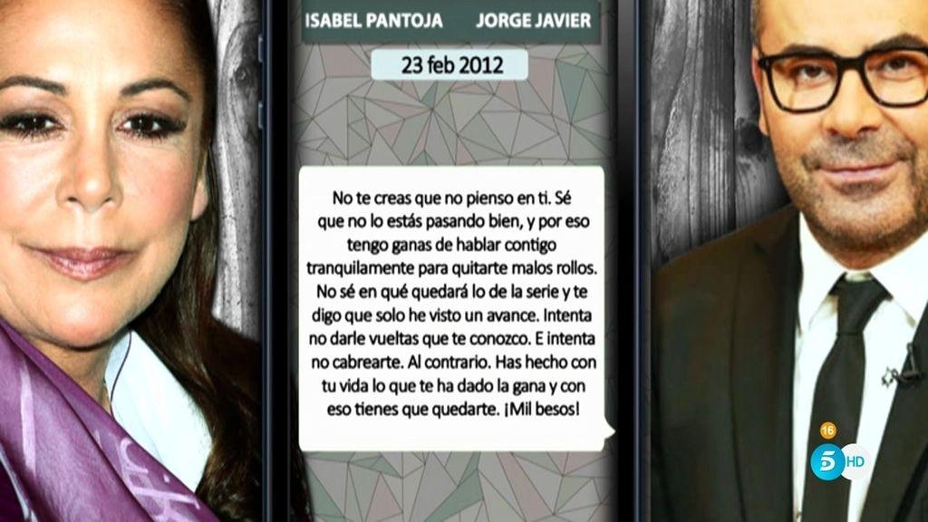 """Jorge Javier Vázquez, a Isabel Pantoja: """"No te creas que no pienso en ti"""""""