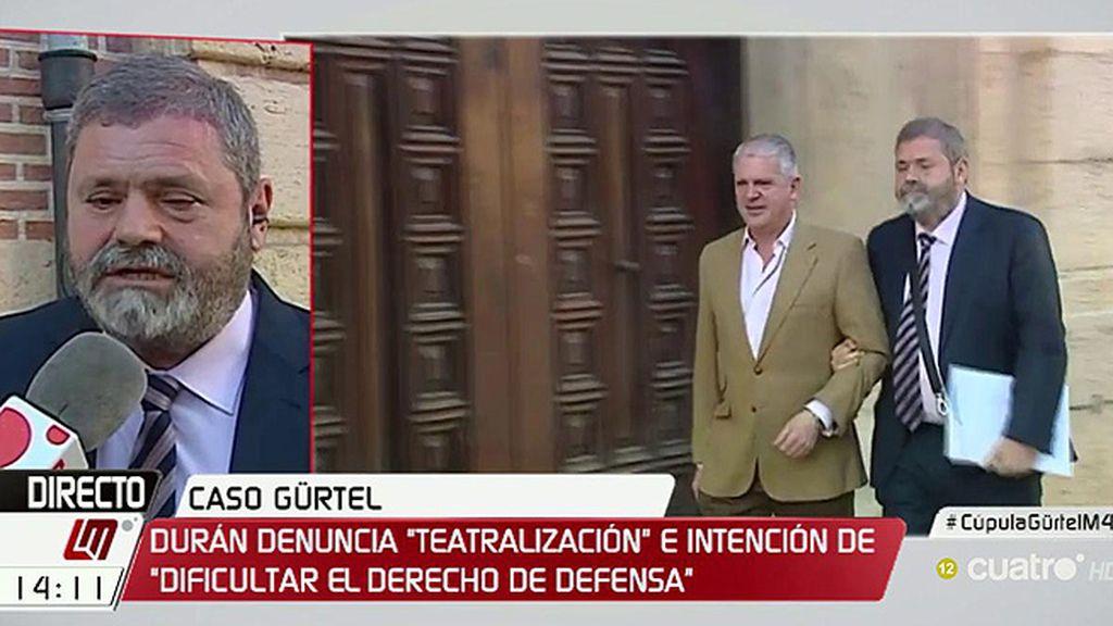 """Durán, abogado de Crespo: """"El Tribunal no ha tenido un comportamiento imparcial"""""""