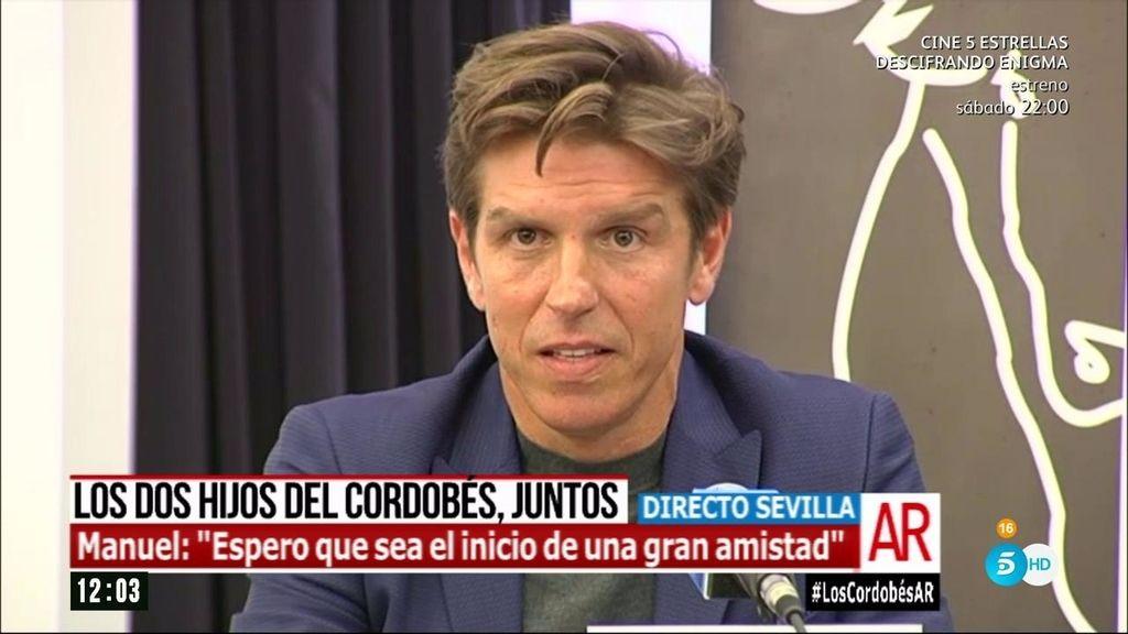"""Manuel Díaz: """"Quiero dar las gracias a Julio por ser tan valiente y dar este paso"""""""