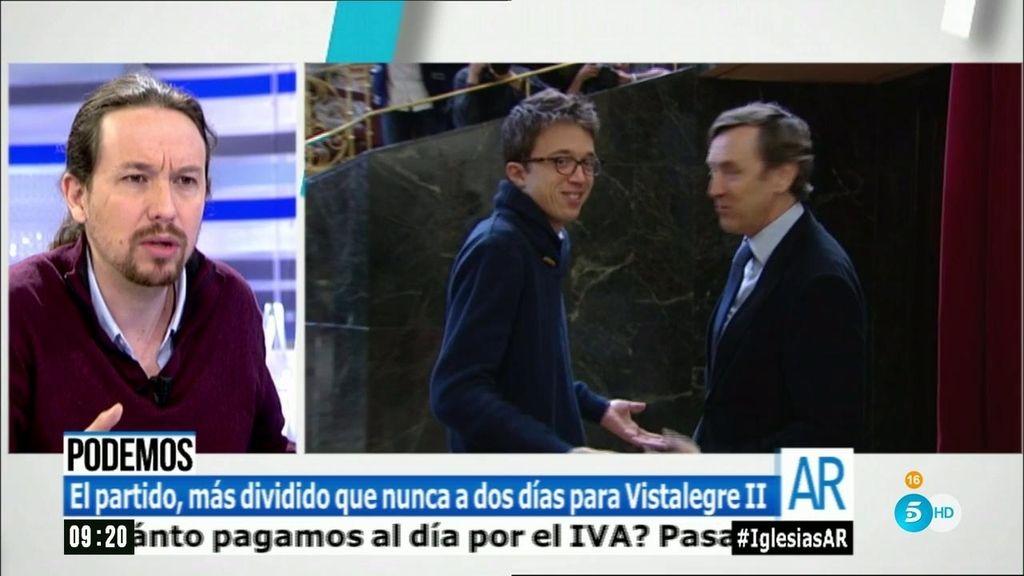 """Iglesias: """"Creo que Íñigo puede ganar a Cifuentes o a Aguirre, pero es decisión suya"""""""