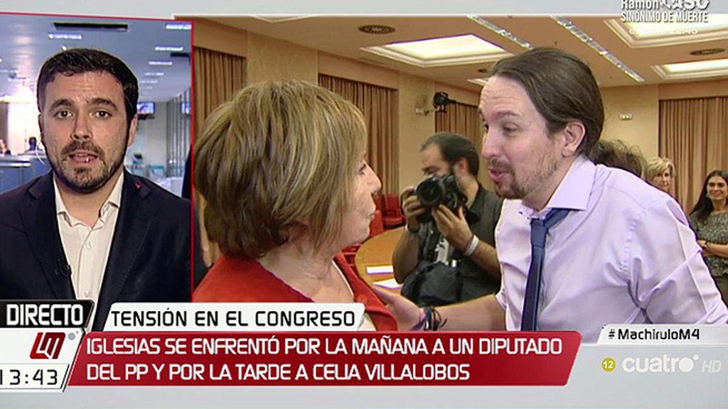"""Garzón: """"Villalobos ha hecho prácticamente de guardiana del PP y el Banco de España"""""""