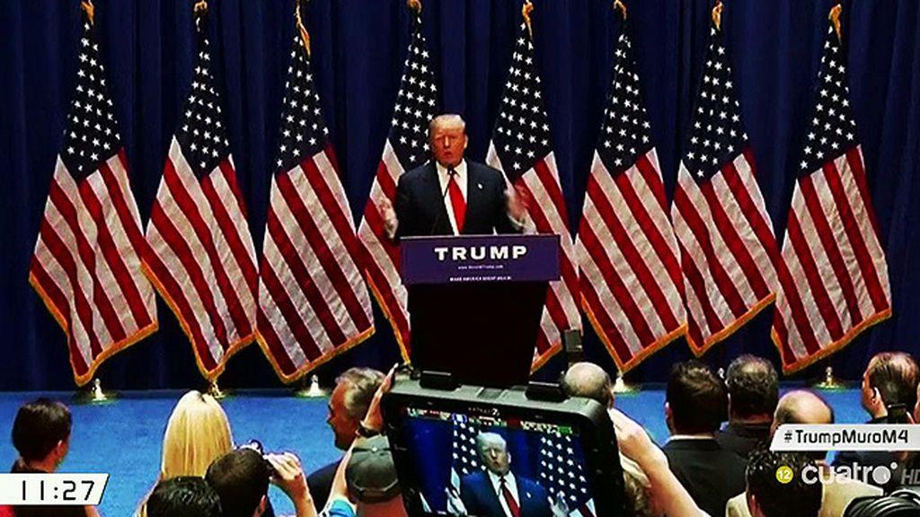 """Trump: """"Un país sin fronteras no es un país"""""""