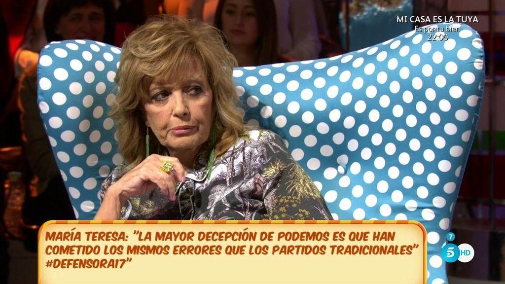 """Mª Teresa: """"A mí Eurovisión me importa lo mismo que a Mila Isabel Pantoja"""""""