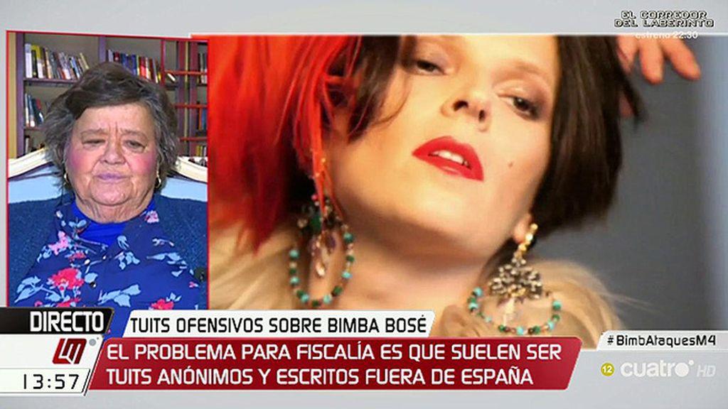 """Cristina Almeida, de los tuits contra Bimba: """"Lo que asombra no es la injuria sino el ataque al diferente"""""""