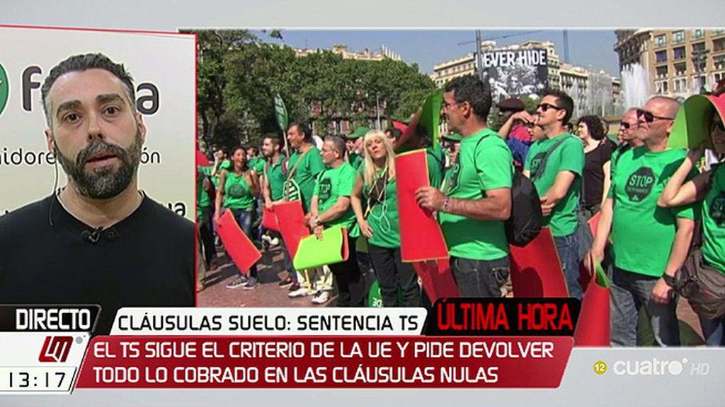 """R. Sánchez, de las cláusulas suelo: """"Se trata de que el Gobierno se entere y deje de decirle a la banca que haga lo que quiera"""""""