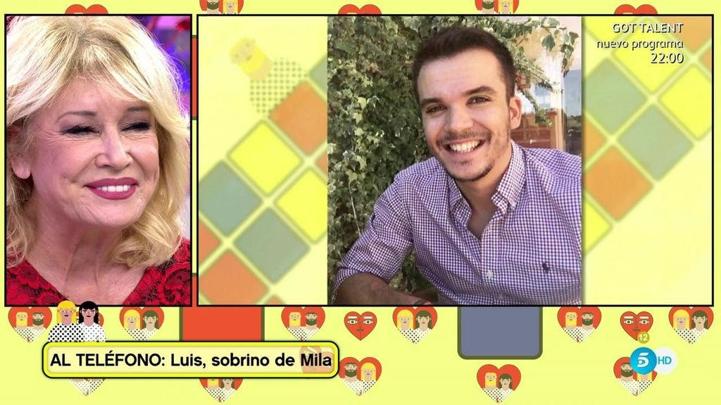 """Luis, sobrino de Mila: """"Mi tía me está ayudando a cumplir mi sueño"""""""