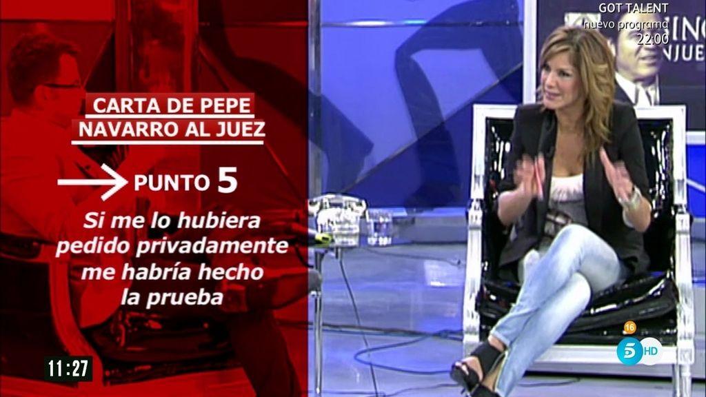 """Pepe Navarro envió una carta al juez hablando de """"linchamiento"""" y """"mentiras"""""""