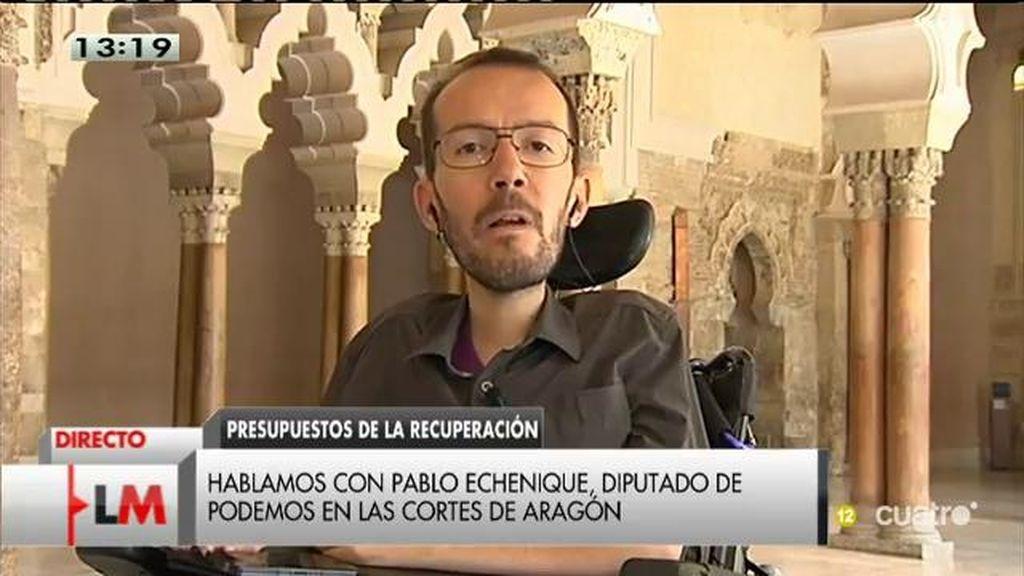 """Pablo Echenique: """"El círculo virtuoso de Mariano Rajoy es pura ciencia ficción"""""""