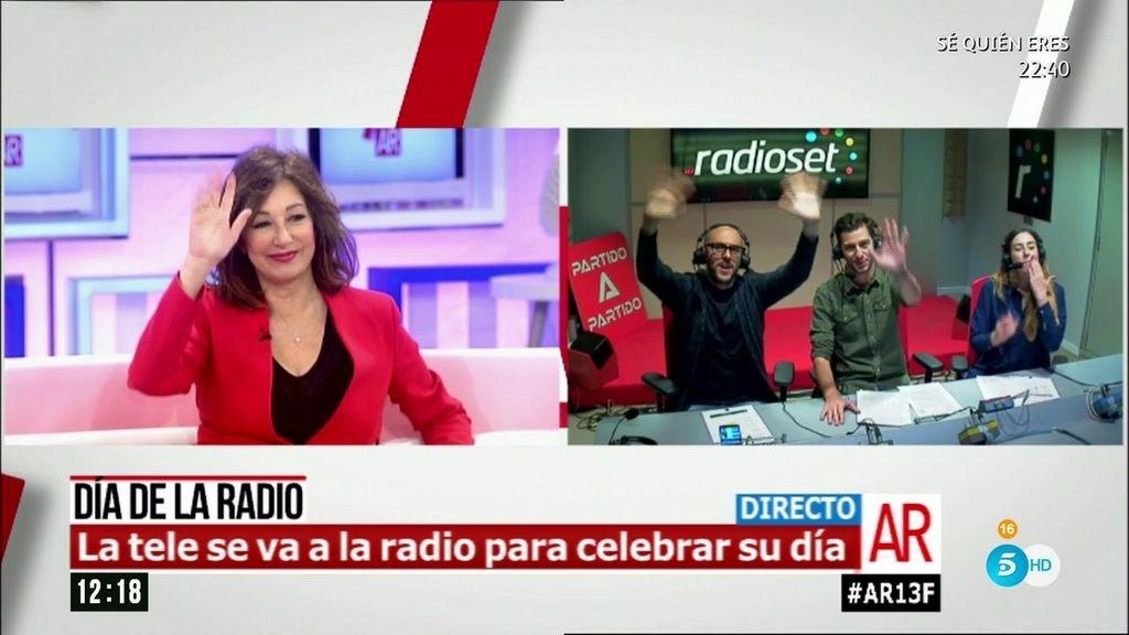 Ana Rosa conecta en directo con Radioset para celebrar el día mundial de la radio