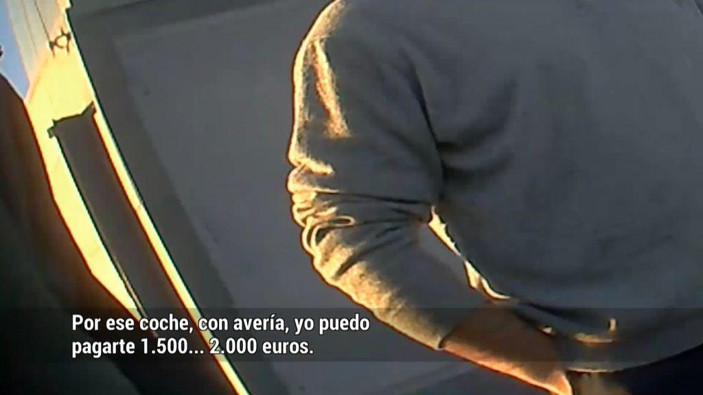 Compraventa ilegal de coches: 2.000 euros por un coche que no tiene valor comercial