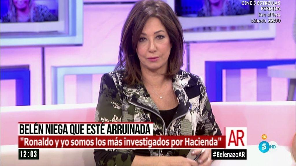 "Ana Rosa, sobre Belén Esteban: ""A mí nunca me ha pedido dinero"""