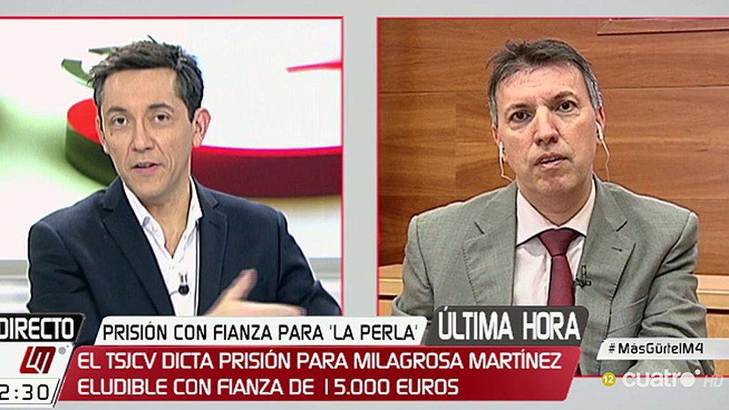 """Bosch, sobre Milagrosa Martínez: """"El tribunal considera que no hay riesgo de fuga y si no lo hay no se puede aplicar la prisión provisional"""""""
