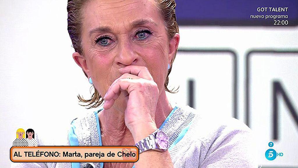 """Marta, pareja de Chelo, sorprende a la colaboradora: """"La quiero con toda mi alma"""""""
