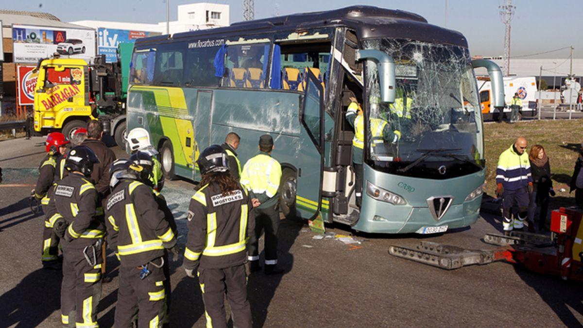 En libertad el conductor del autobús escolar siniestrado en Fuenlabrada