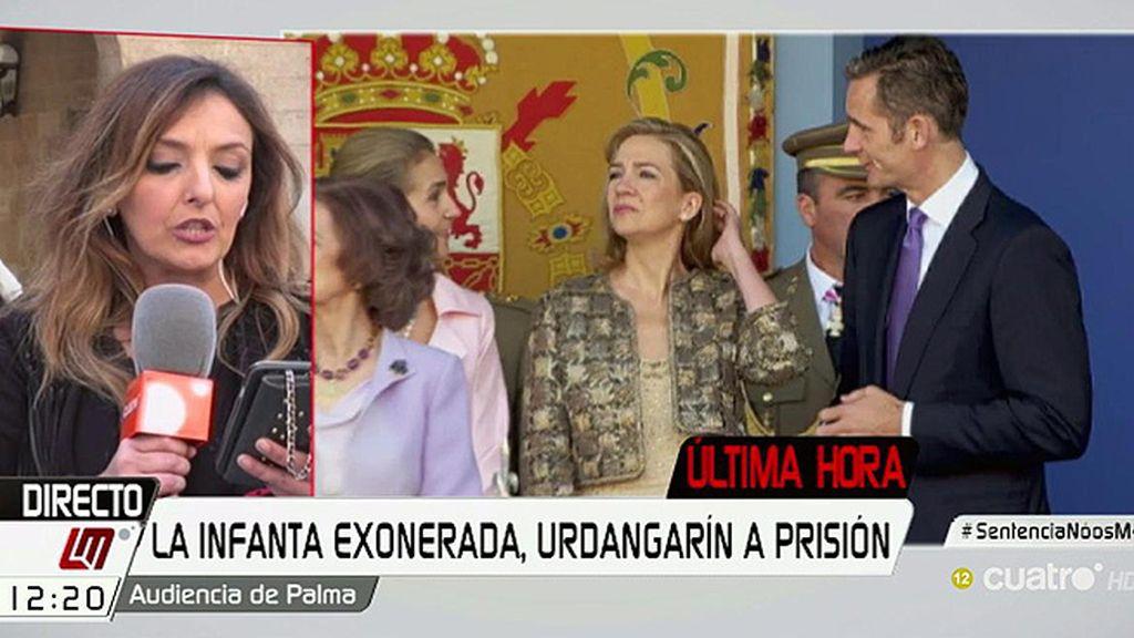 Caso Nóos: Urdangarin, condenado a seis años y tres meses y la Infanta, absuelta