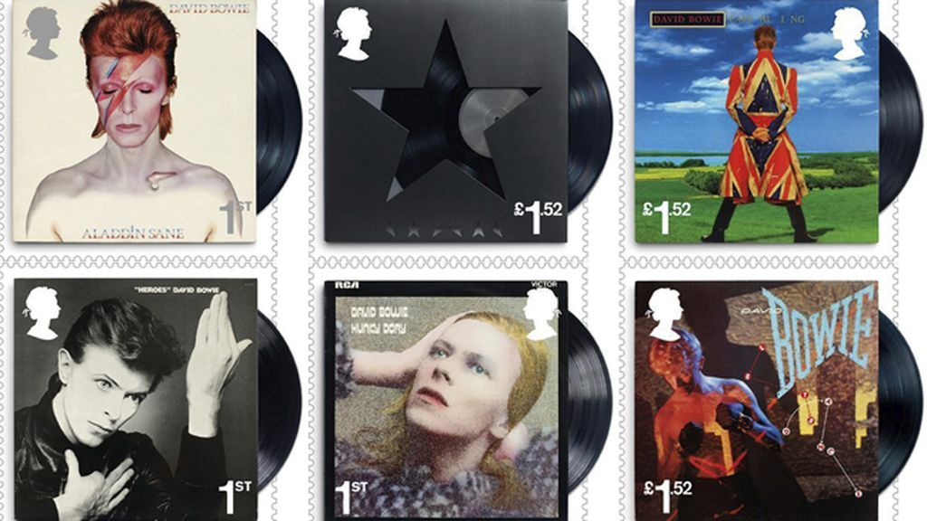 Sellos conmemorativos en honor de David Bowie