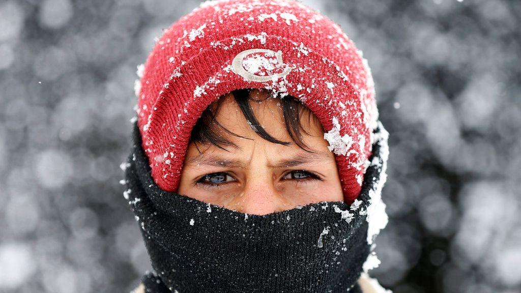 Nieve sobre desplazados