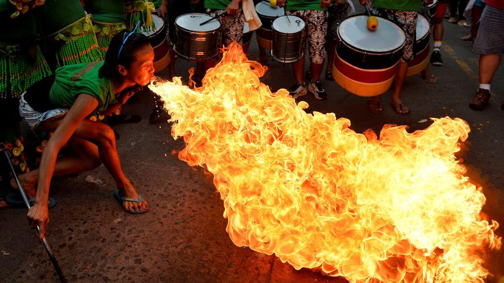 Fuego para el Año Nuevo Lunar