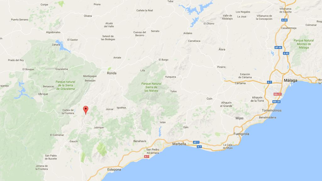 Mapa de Málaga