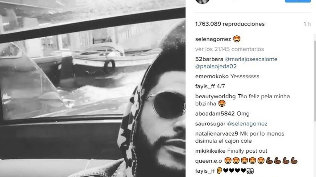 Selena Gomez hace oficial en sus redes su romance con The Weeknd