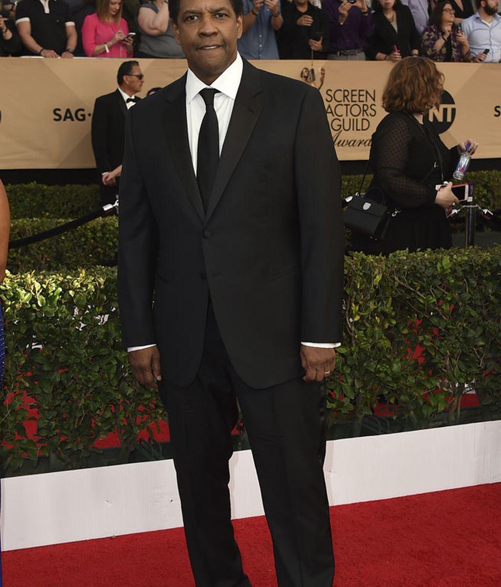 Un clásico Denzel Washington, recibió el premio a mejor actor por 'Fences'