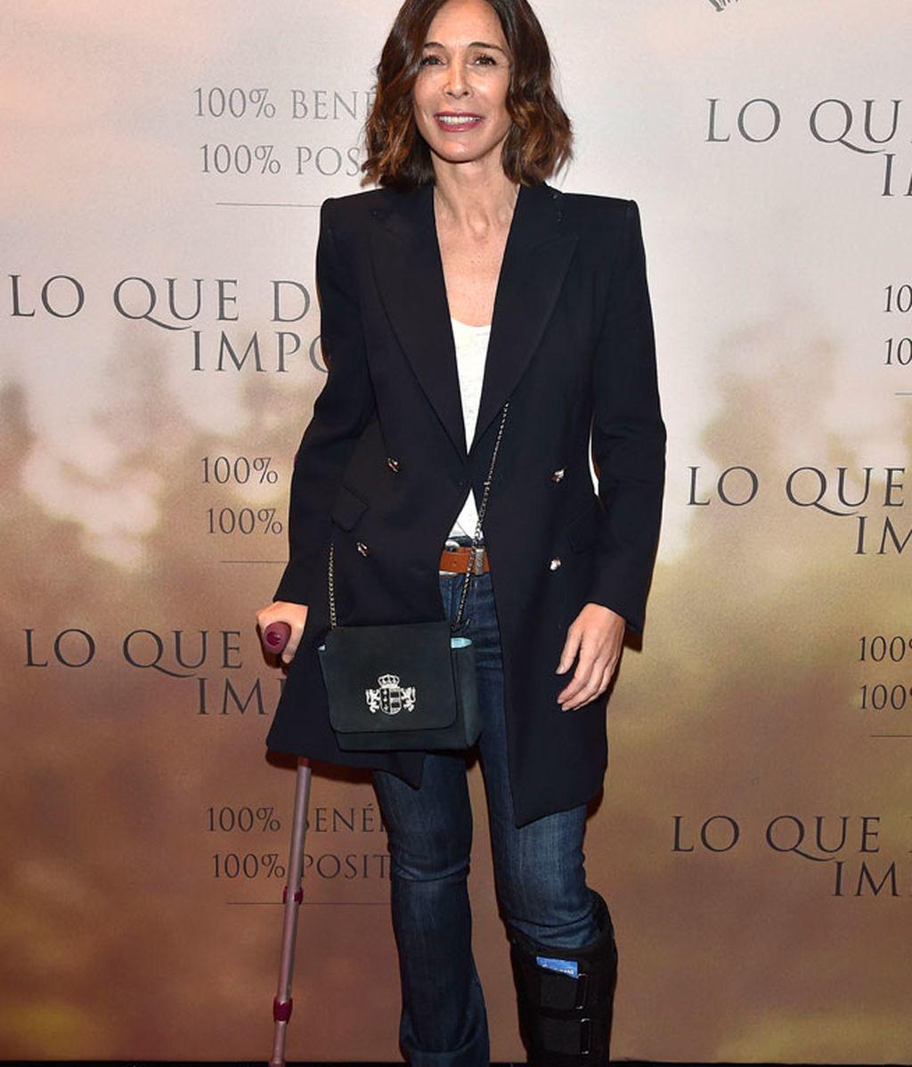 A Lidia Bosch su 'mala pata' no le impidió asistir al evento