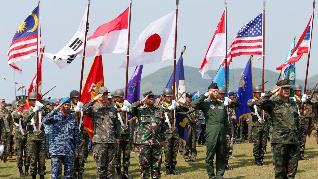 Inauguración del ejercicio militar multilateral