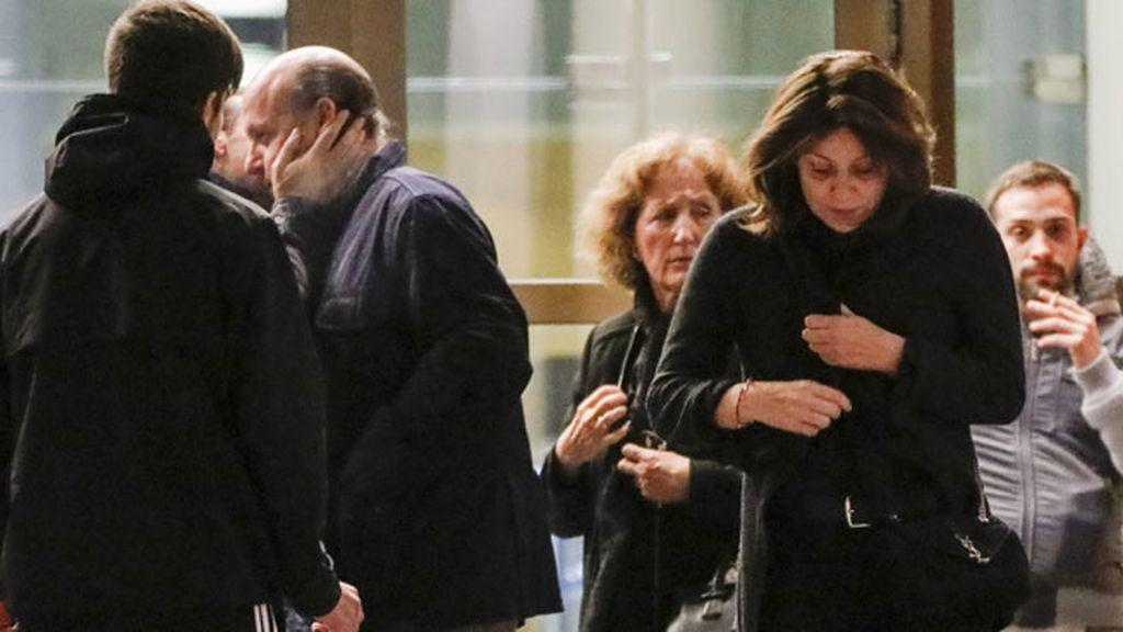Último adiós en familia en el Tanatorio de Palencia