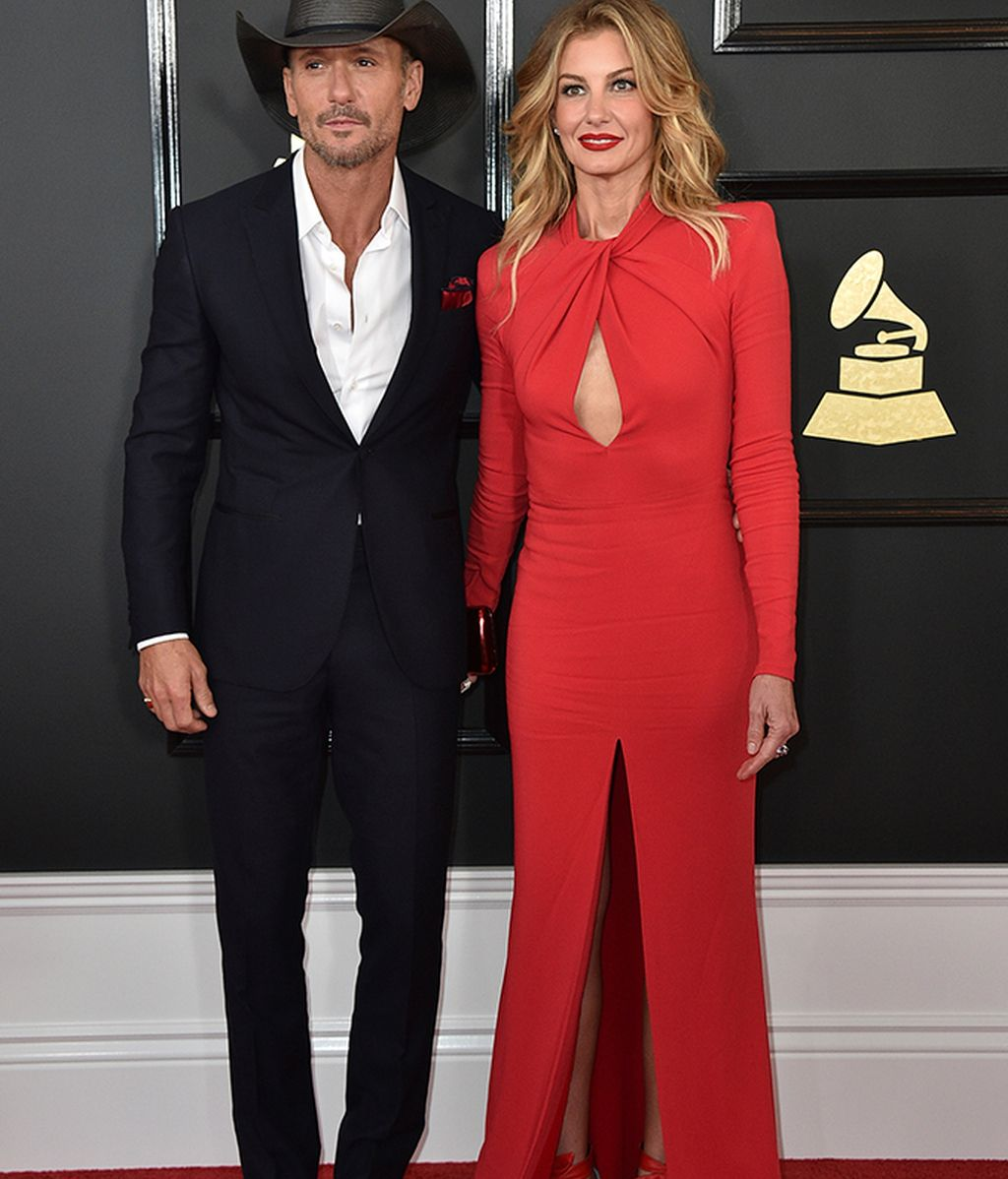 Tim McGraw y Faith Hill, ella vestida de Zuhair Murad