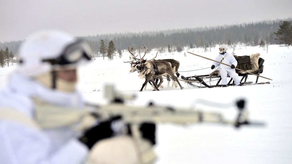 Prácticas militares en la nieve