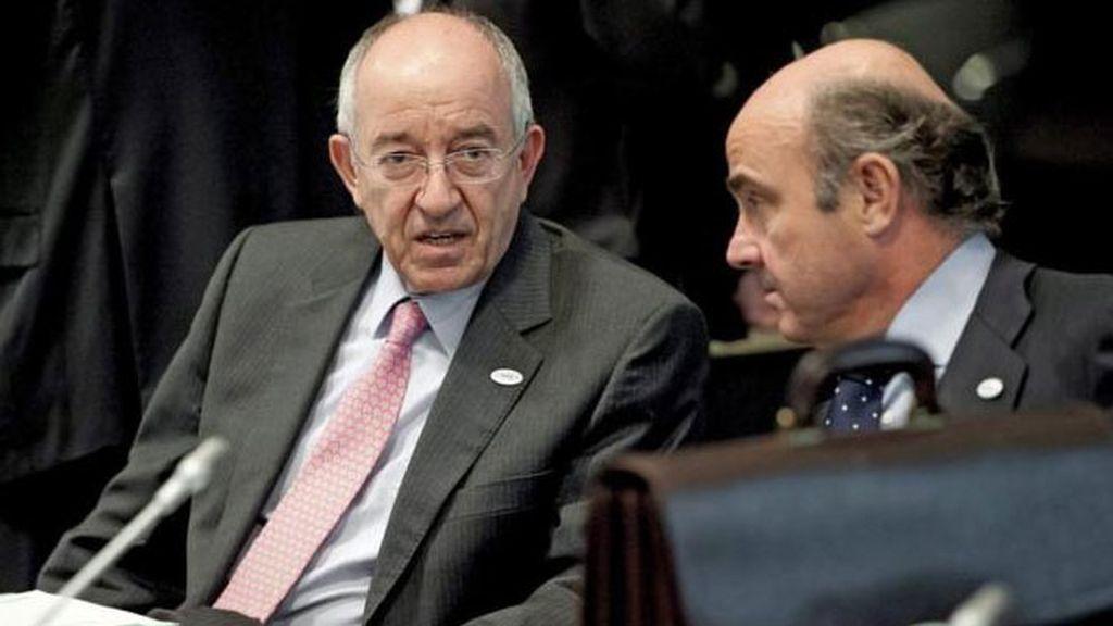 exgobernador del Banco de España, Miguel Ángel Fernández Ordoñez, ministro economía Luis de Guindos