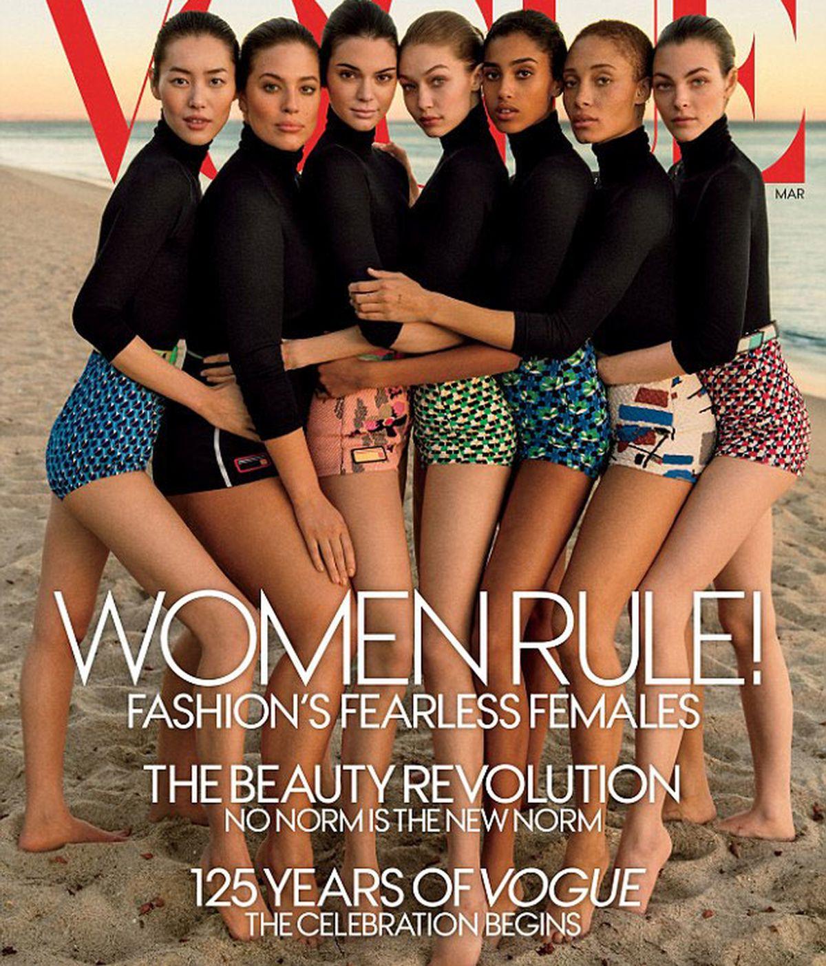 Vogue, acusada de retocar a las modelos para esconder sus curvas