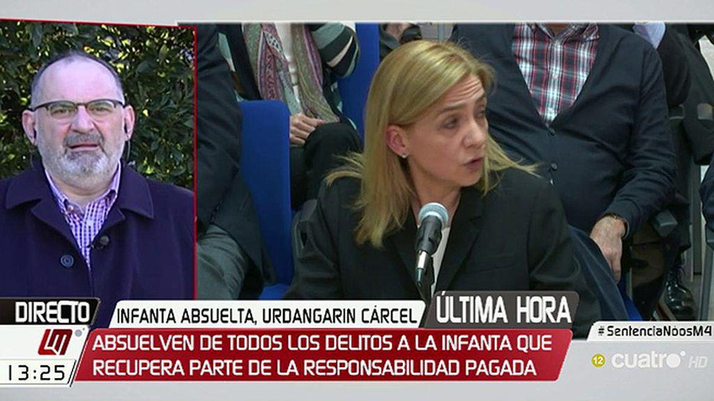 """Antón Losada, de la sentencia del caso Nóos: """"La Infanta ha sido condenada civilmente y una condena es una condena"""""""