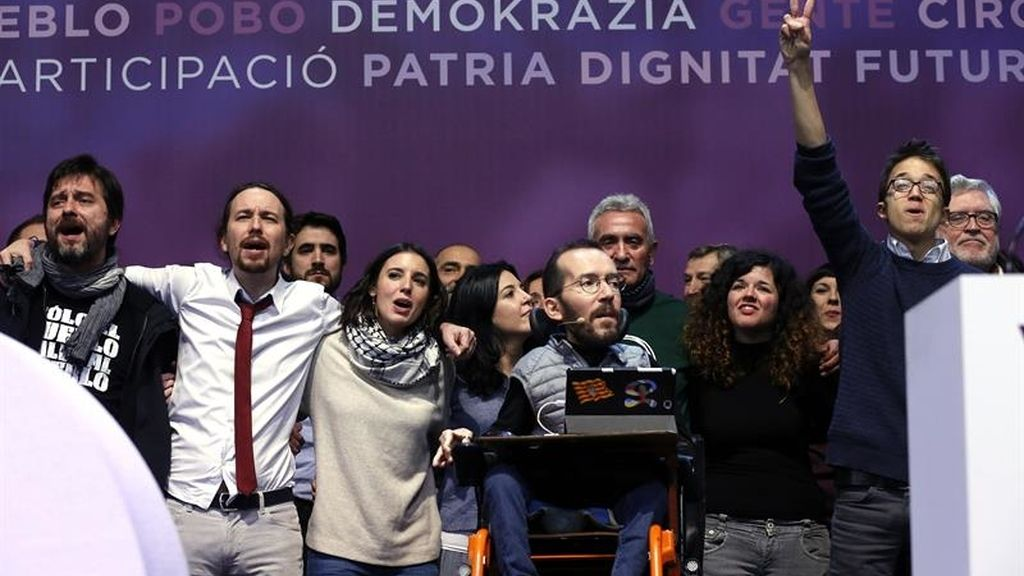 Iglesias y Errejón, separados en el cierre del Congreso de Podemos