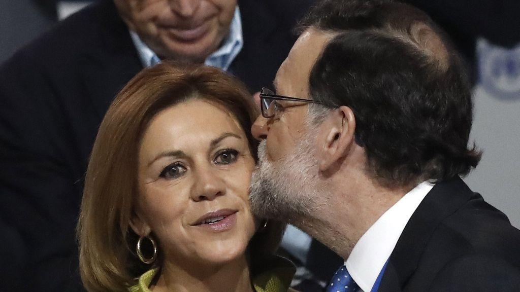 Mariano Rajoy y María Dolores de Cospedal en el cierre del Congreso del PP