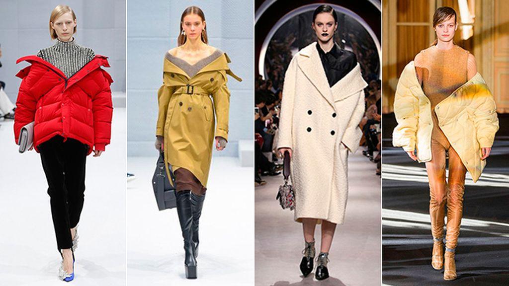 abrigo mal puesto