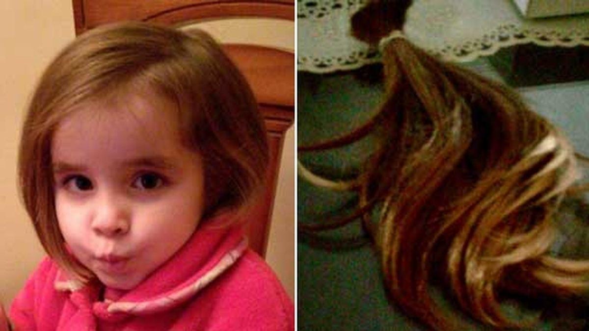 Alba Martínez, una niña de cuatro años que dona su pelo a enfermos con cáncer