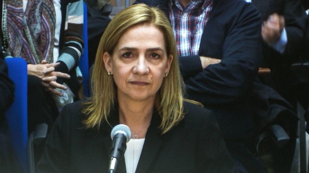 La infanta Cristina declara ante el tribunal por su implicación en el caso Nóos