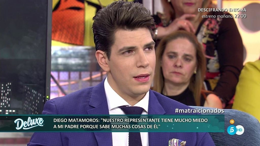 "Diego Matamoros ""Mi exrepresentante hablaba mal de mi padre"""