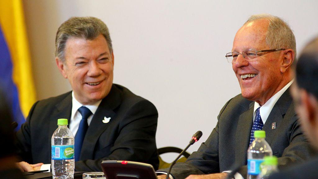 Juan Manuel Santos y Pedro Pablo Kuczynski