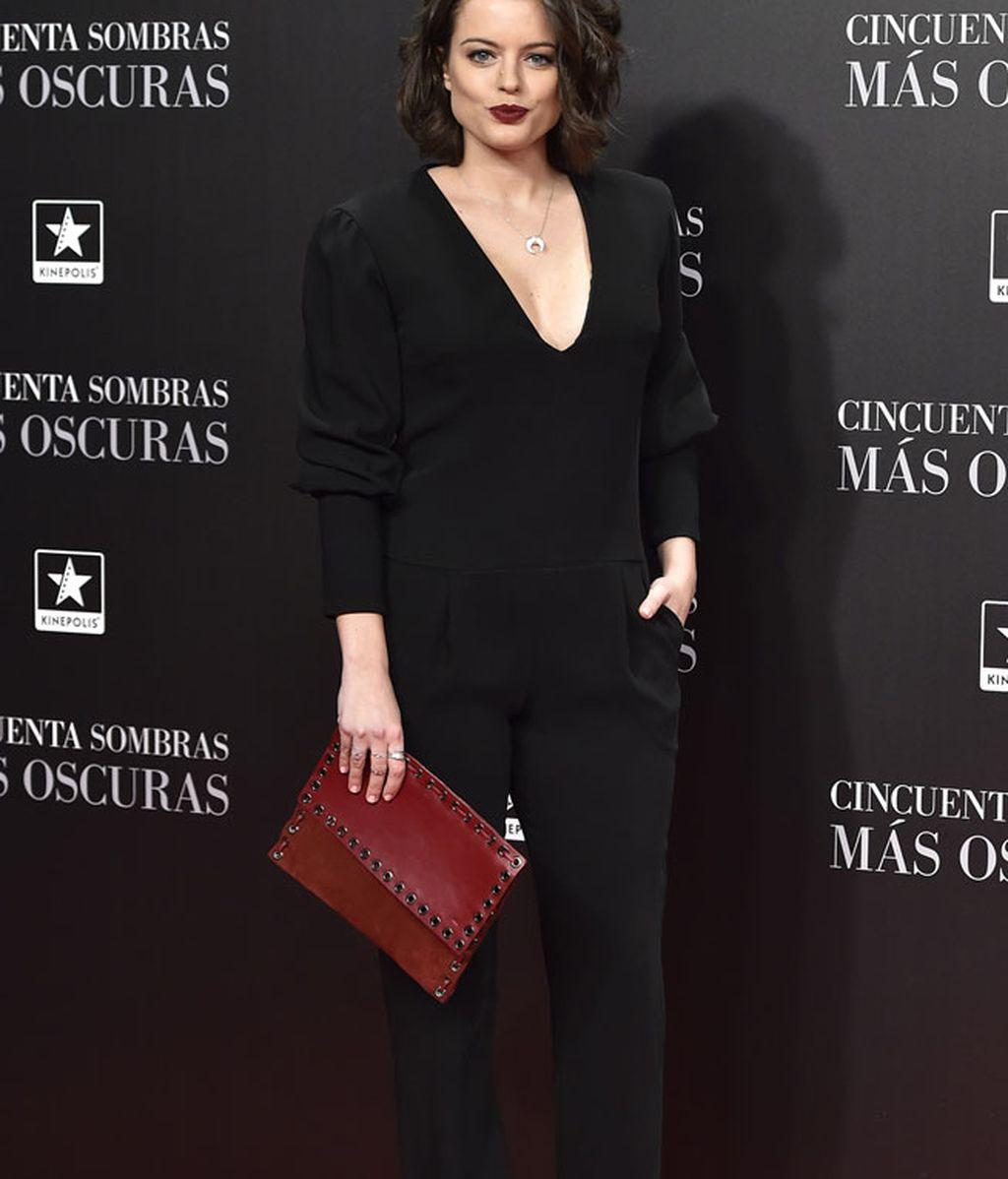 Adriana Torrebejano eligió un sencillo mono negro