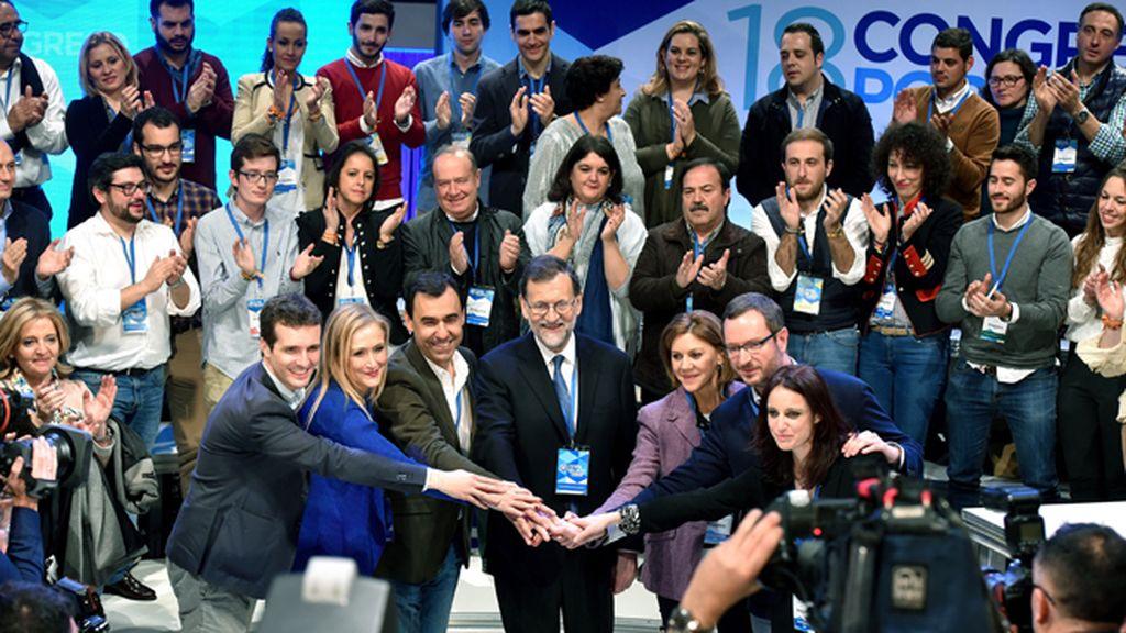 Mariano Rajoy cierra hoy el Congreso del PP bajo una imagen de unidad y cohesión