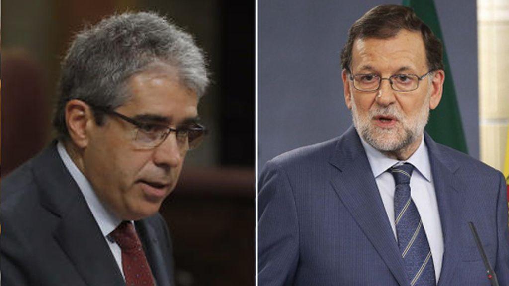 Francesc Homs y Mariano Rajoy