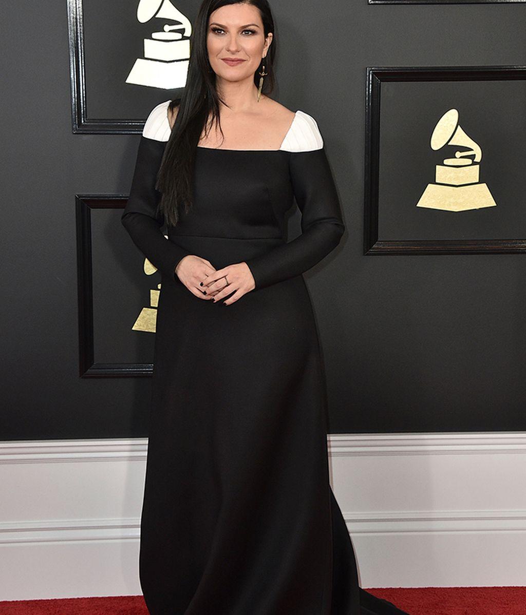 Laura Pausini con vestido de Armani Privé