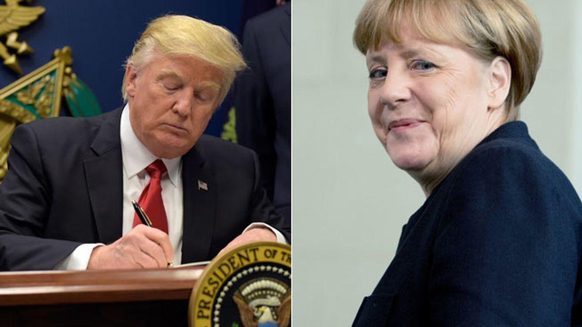 Trump y Merkel