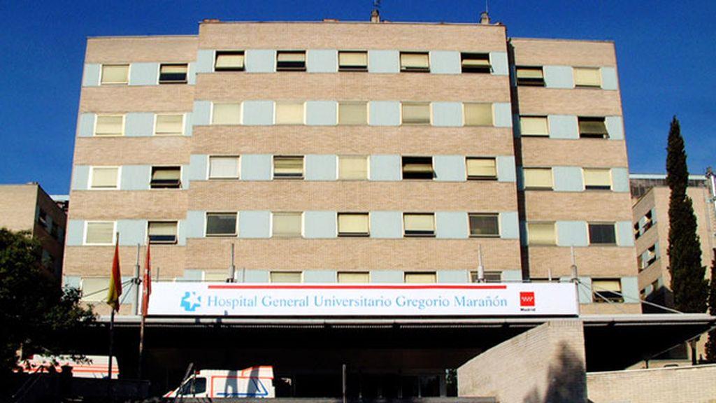 Se desprende parte del techo de una habitación del Hospital Gregorio Marañón
