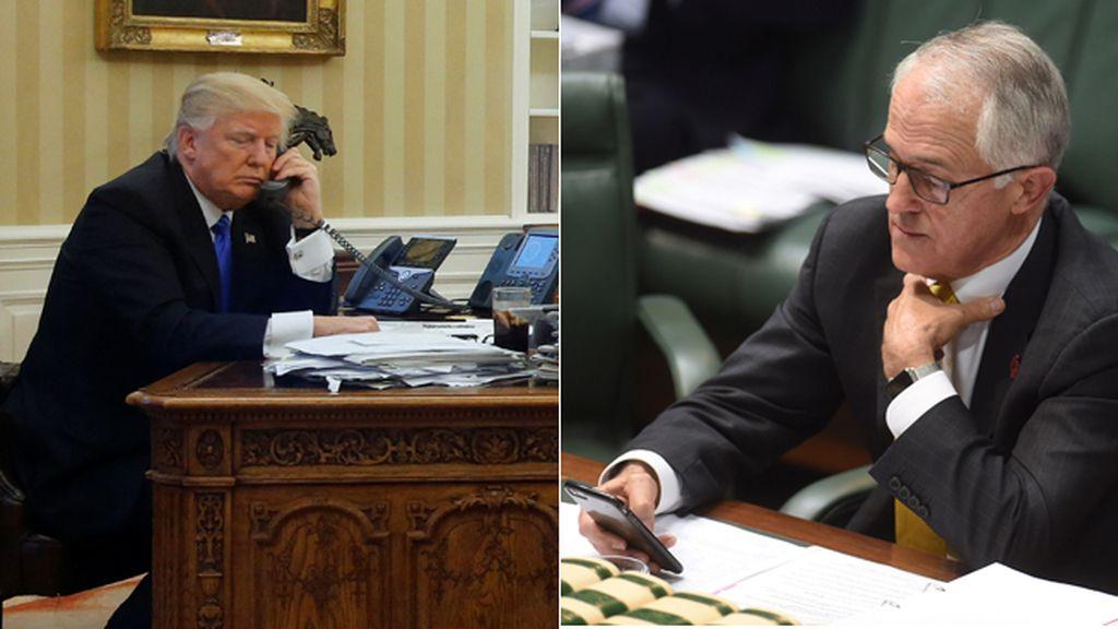 Donald Trump y Malcom Turnbull